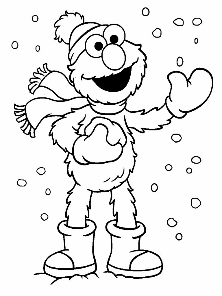 Elmo Coloring Pages 14 #37547 - Elmo Color Pages Free Printable