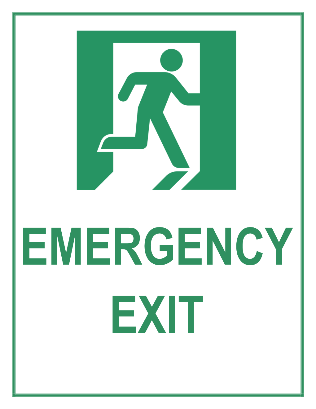 Emergency Exit Sign - Free Printable Emergency Exit Only Signs
