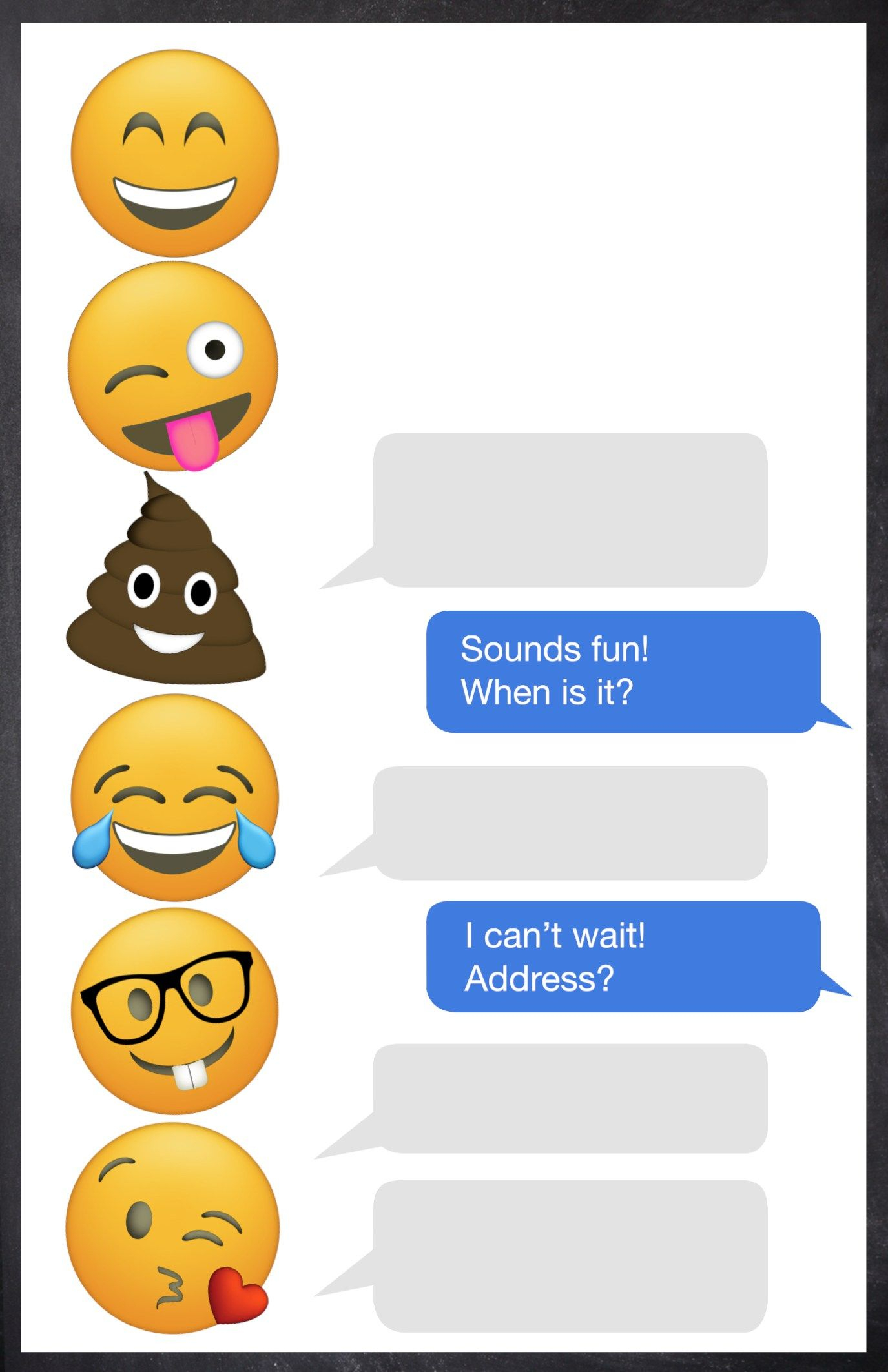 Emoji Birthday Invitations Free Printable Template   Shreya Birthday - Free Printable Invitations