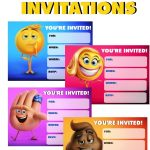 Emoji Movie Invitations | Emoji Printables | Party, Emoji   Free Printable Emoji B Day Invites