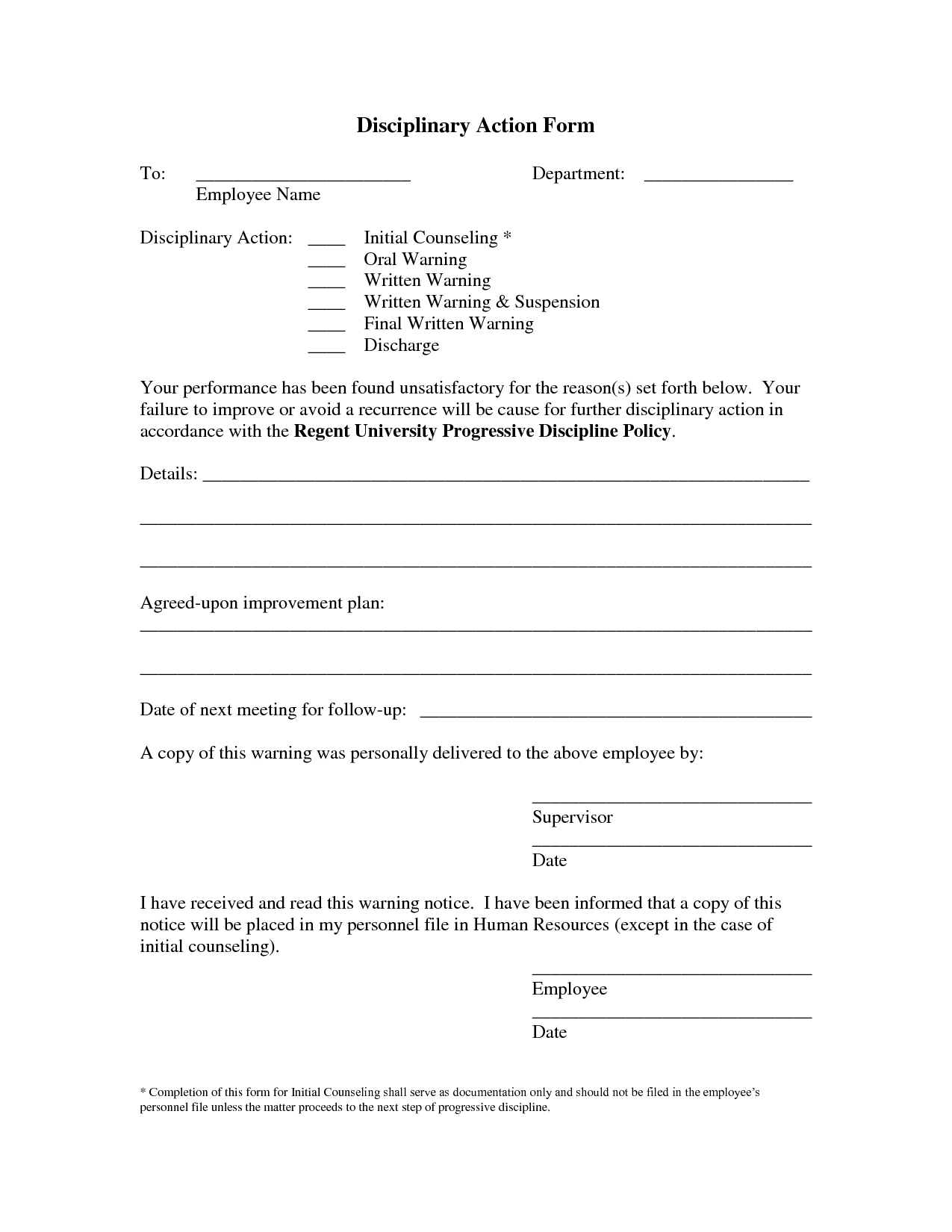 Employee Write Up Template Free - Google Search | Employee Forms - Free Printable Hr Forms