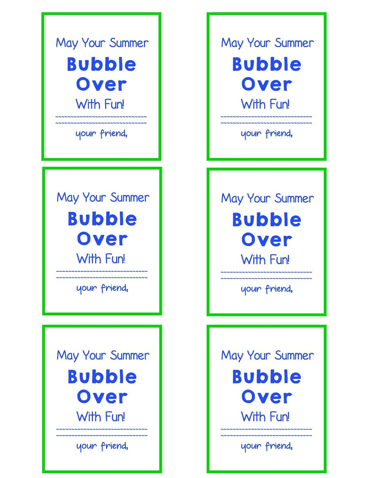 End Of School Year Gift Bubble Gift Tags And Free Printable | Give - Free Printable Gift Tags For Bubbles