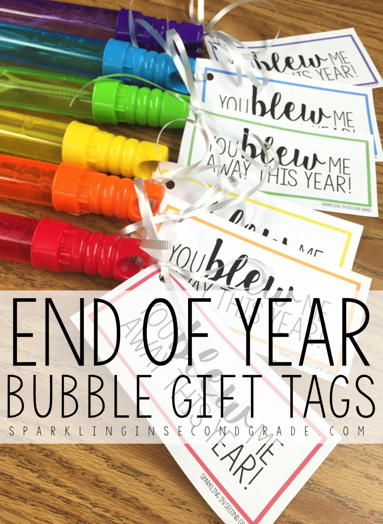 End Of Year Gift Bubble Tags | End Of The School Year | Pinterest - Free Printable Gift Tags For Bubbles