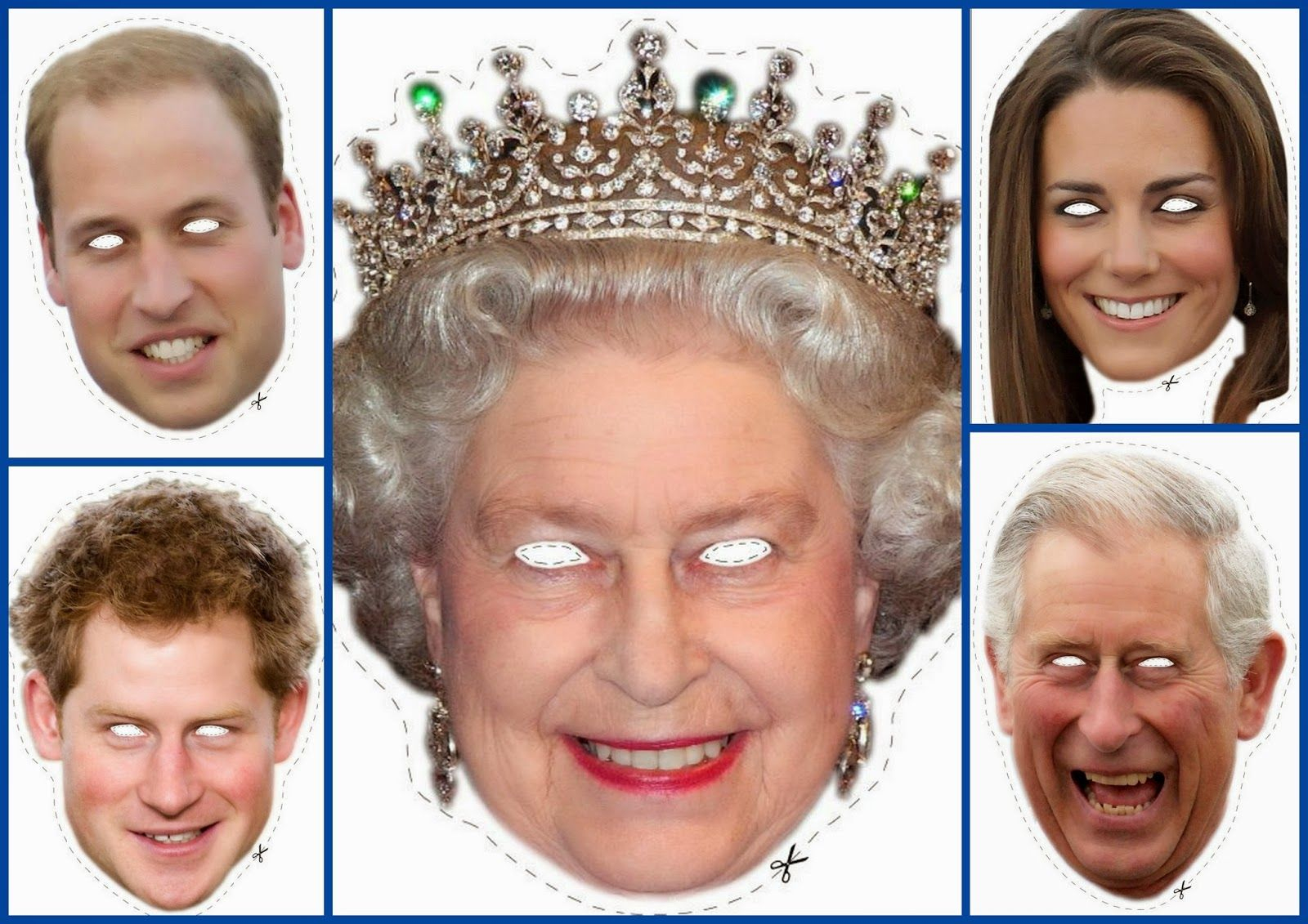 English Royal Family Free Printable Masks. Well Aren't These Just - Free Printable Face Masks