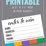 Enter To Win Printable | Rodan Fields | Rodan, Fields, Rodan, Fields   Rodan And Fields Mini Facial Instructions Printable Free