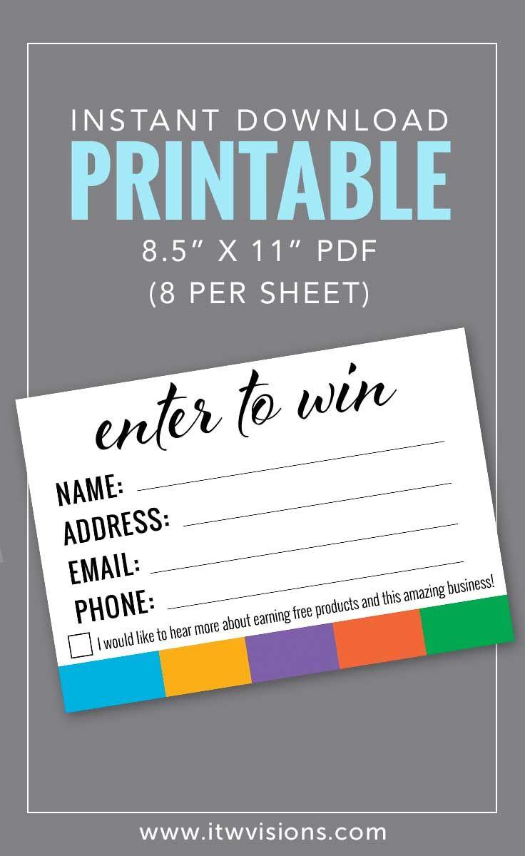 Enter To Win Printable | Rodan Fields | Rodan, Fields, Rodan, Fields - Rodan And Fields Mini Facial Instructions Printable Free