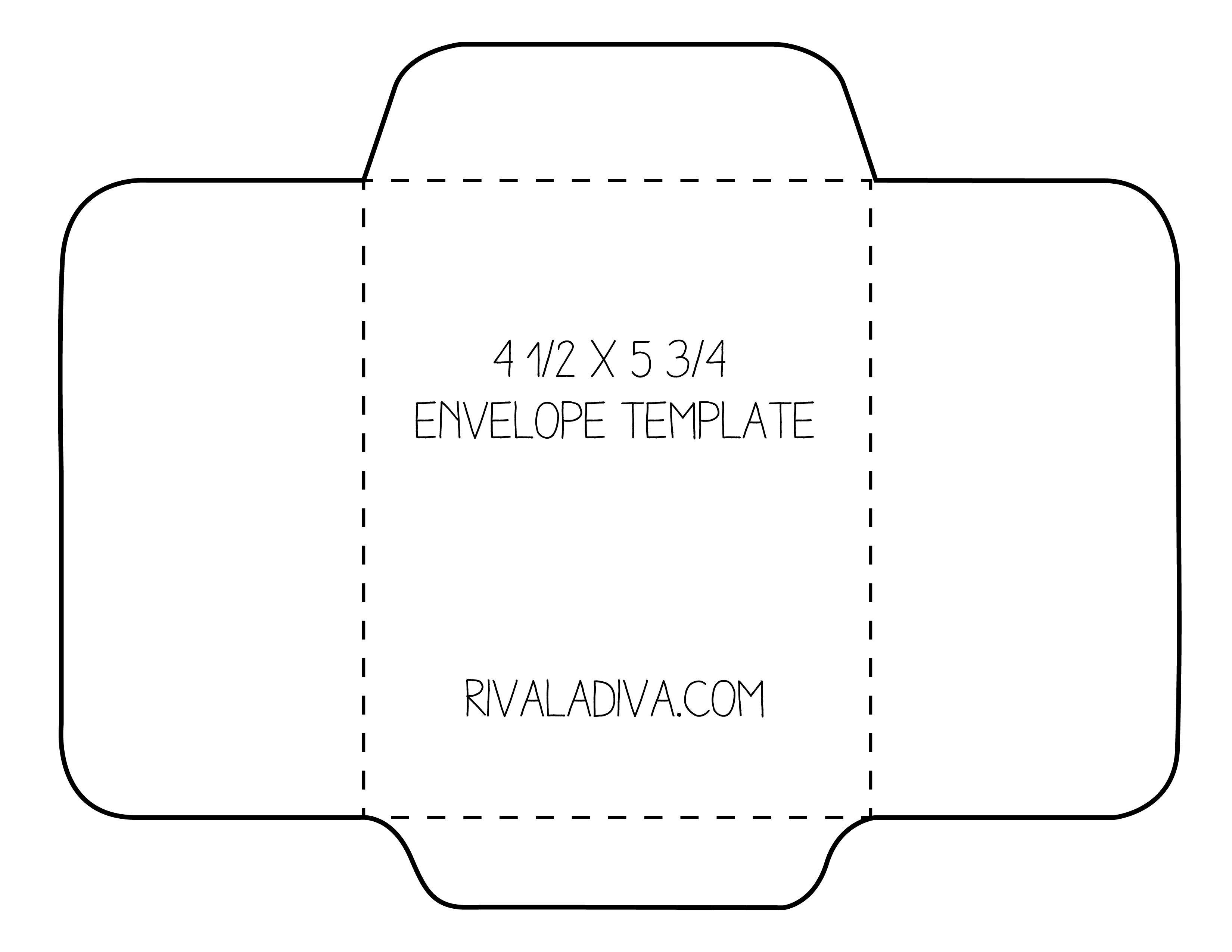 Envelope Template   Envelope Template For 8.5 X 11 Paper Diy - Free Printable Greeting Card Envelope Template