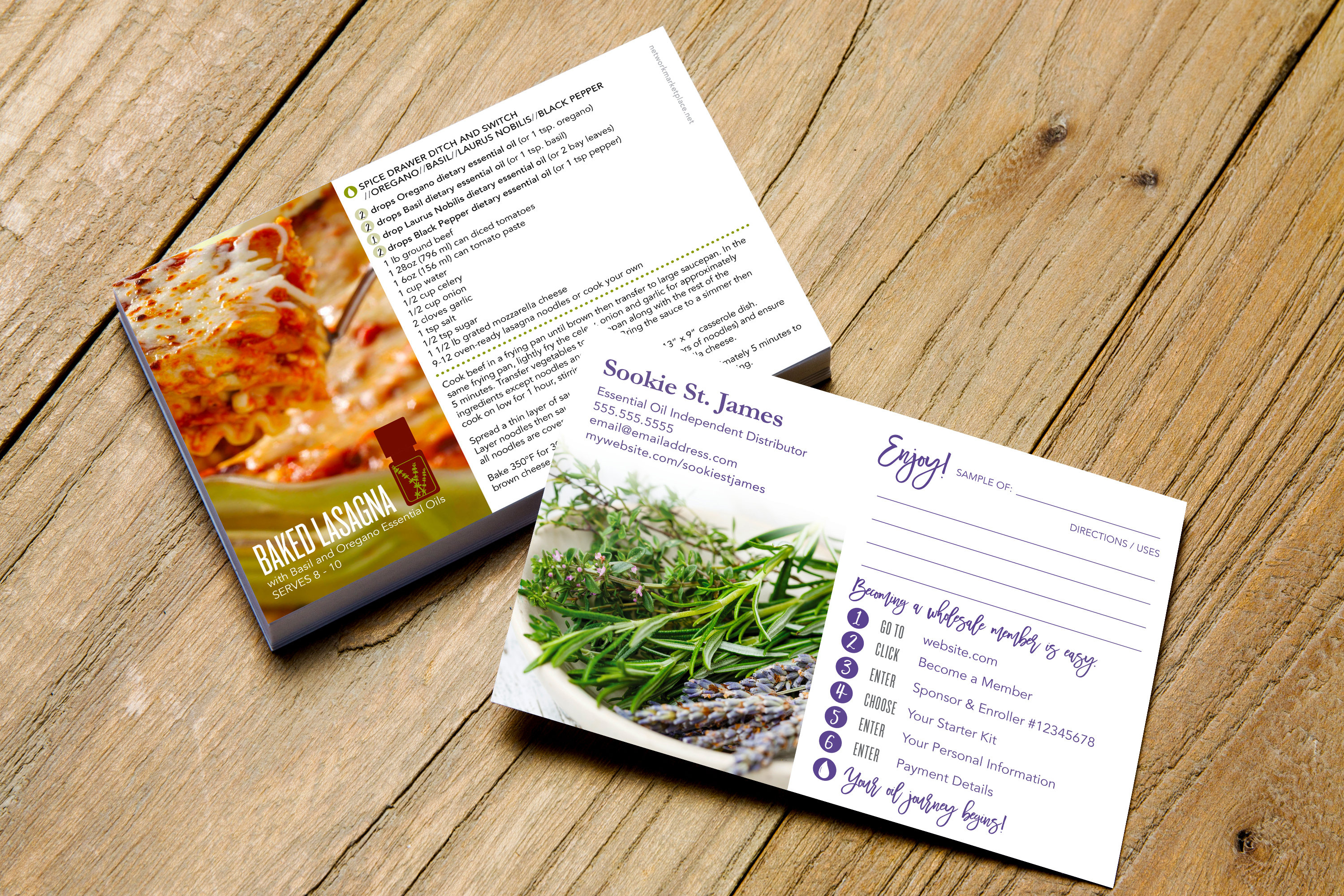 Essential Oils Marketing Personalized Sample Card W/ | Etsy - Free Printable Doterra Sample Cards