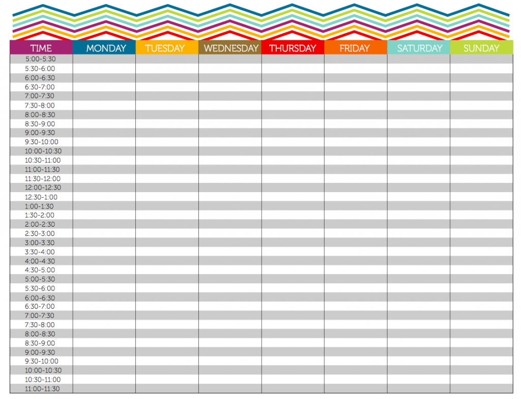 Excel 15 Minute Schedule Template - Romeo.landinez.co With Regard To - Free Printable Daily Planner 15 Minute Intervals