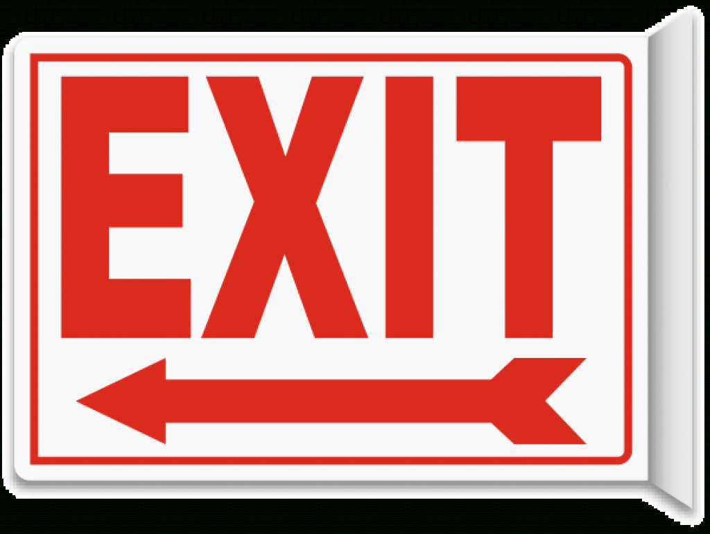 Exit (Left Arrow) 2-Way Sign A5102 -Safetysign For Free Printable - Free Printable Exit Signs With Arrow