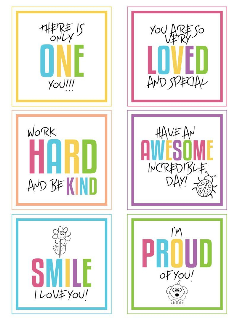Fabulous And Fun Lunch Box Hacks + Free Printable | Fresh Mommy Blog - Free Printable Lunchbox Notes