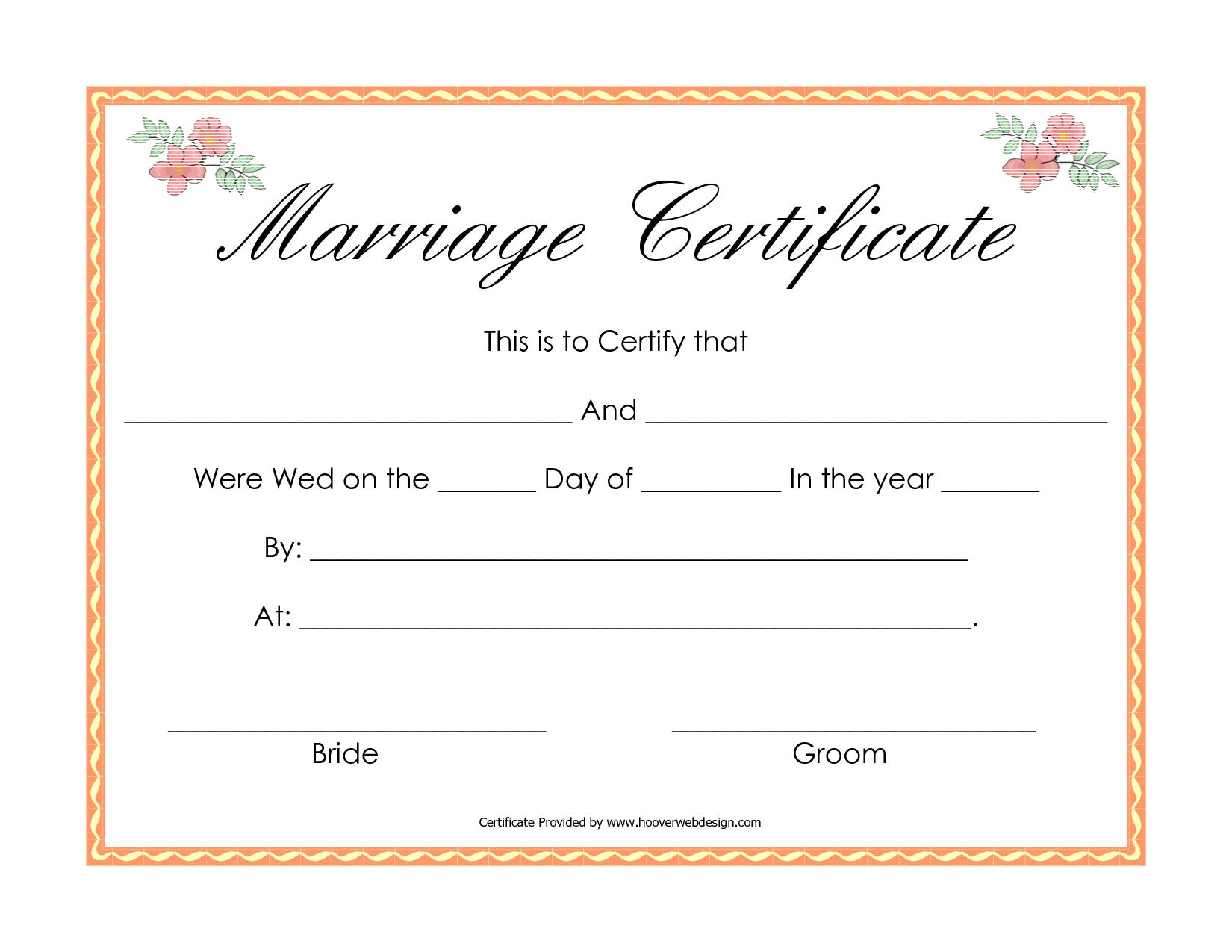 Fake Marriage Certificate | Fake Marriage Certificate | Pinterest - Fake Marriage Certificate Printable Free