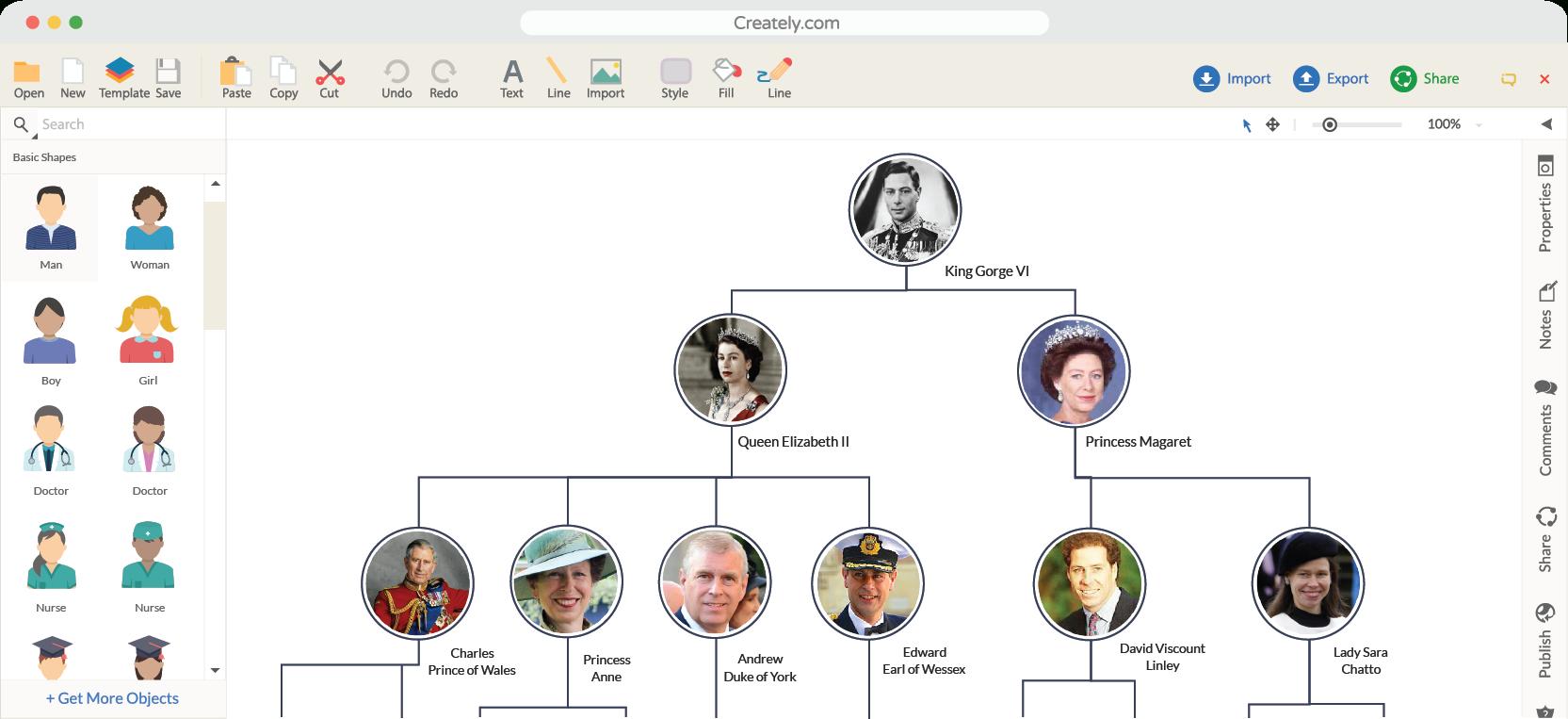 Family Tree Maker | Create Family Tree Online | Creately - Family Tree Maker Online Free Printable