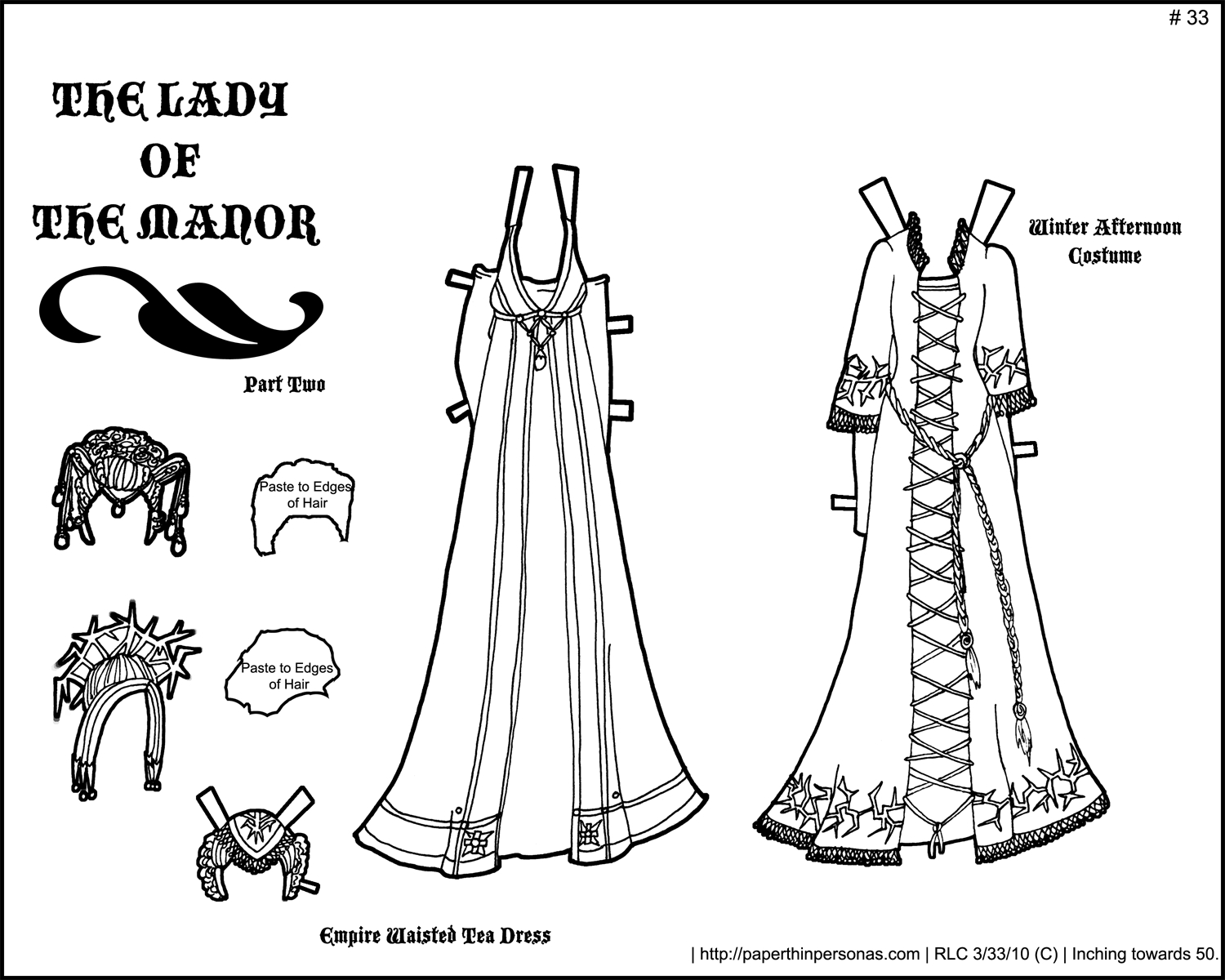 Fantasy Printable Paper Doll: Lady Of The Manor Part 2 • Paper Thin - Medieval Paper Dolls Free Printable