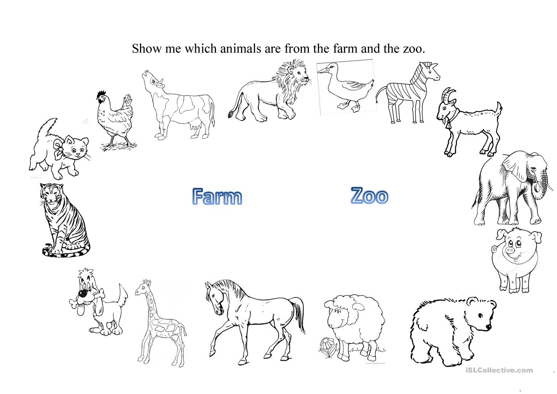Farm And Zoo Animals Worksheet - Free Esl Printable Worksheets Made - Free Printable Zoo Worksheets