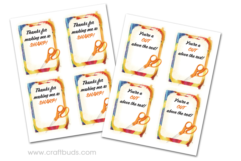 Fast Teacher Appreciation Gift! (+ Free Printable)   Craft Buds - Free Printable Tags For Teacher Appreciation