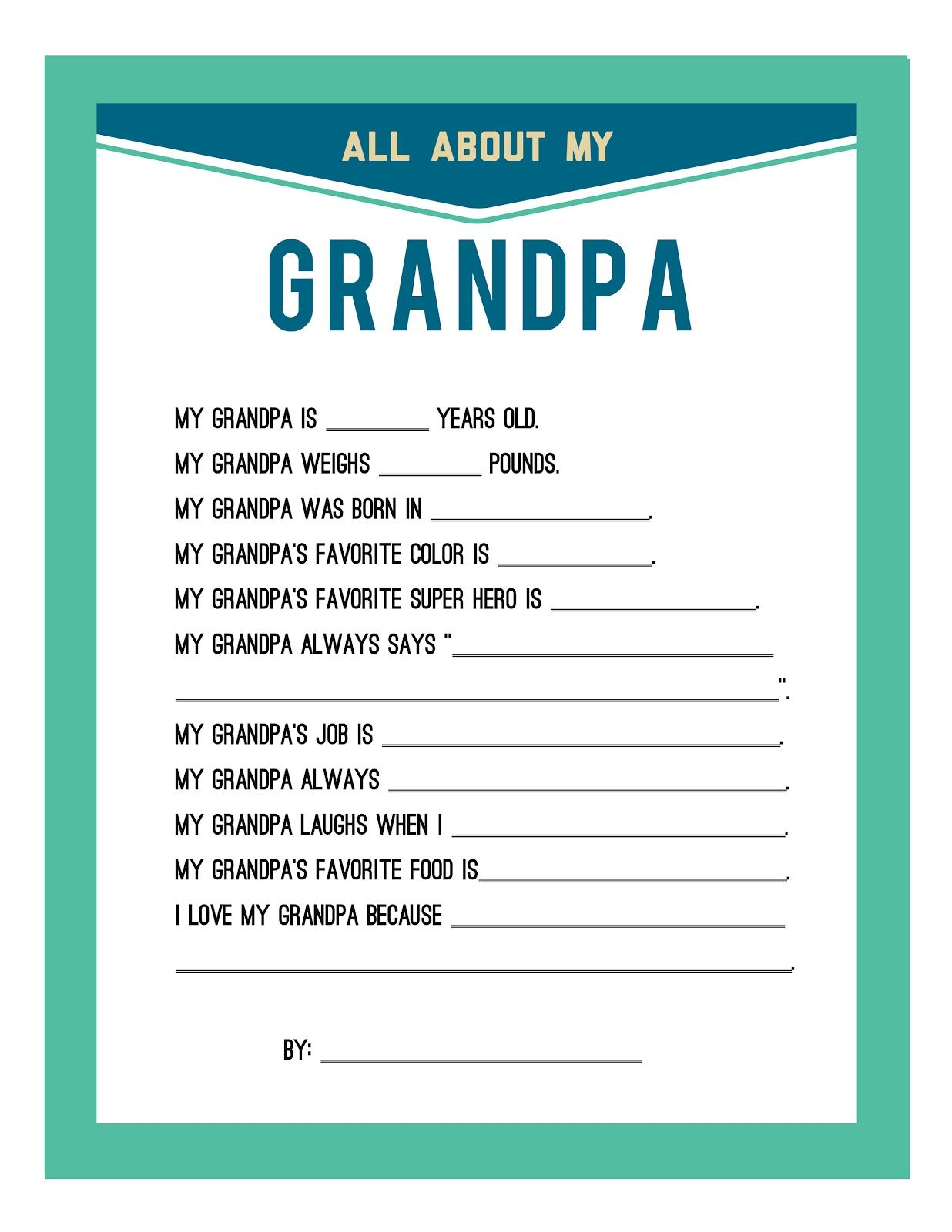 Fathers Day Printable - | Gifting | Favorite Gift Ideas | Pinterest - Free Printable Happy Fathers Day Grandpa Cards
