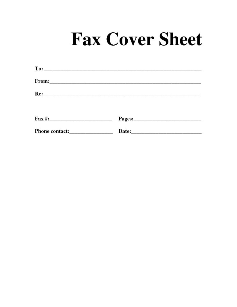 Fax Cover Letter Printable | Room Surf - Free Printable Cover Letter Format