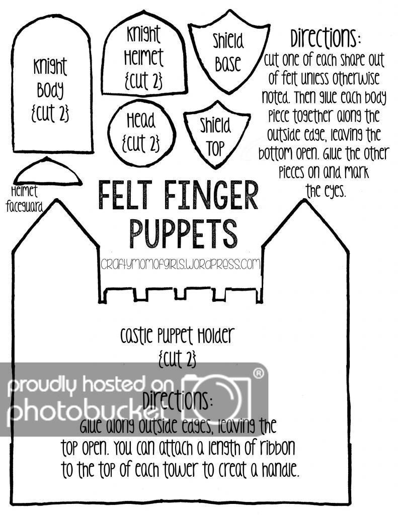 Felt Finger Puppets {Free Printable Template} | Crafty Mom Of Girls - Free Printable Finger Puppet Templates