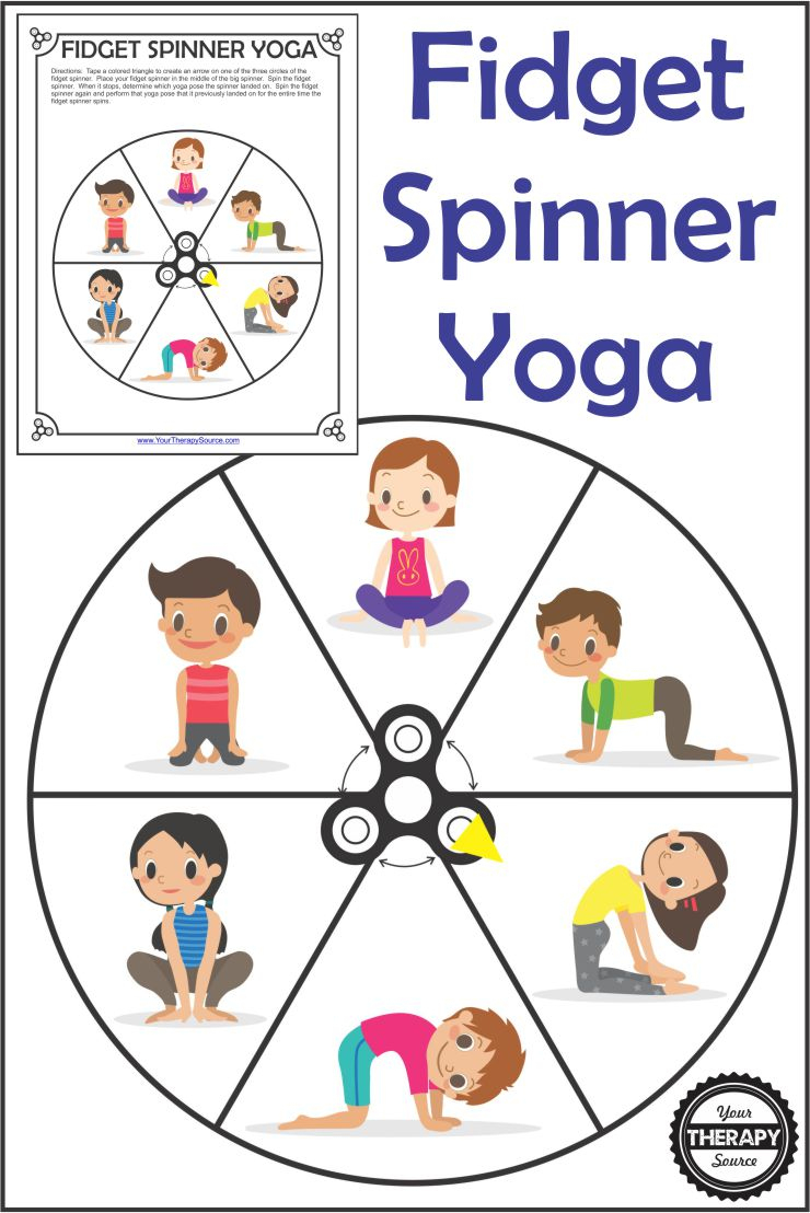 Fidget Spinner Yoga - Free Printable - Your Therapy Source - Free Printable Yoga Poses
