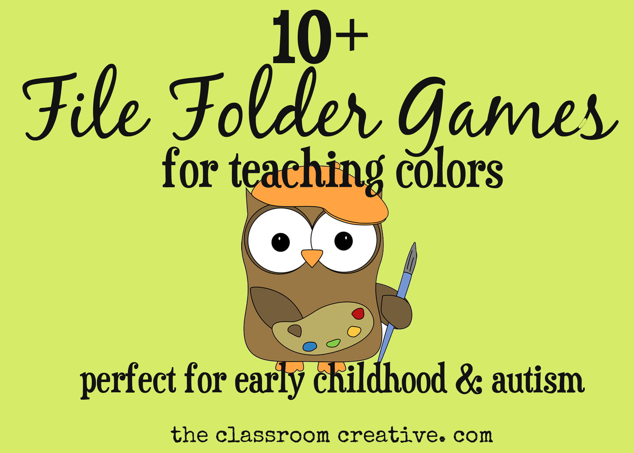 File Folder Games For Teaching Colors - File Folder Games For Toddlers Free Printable