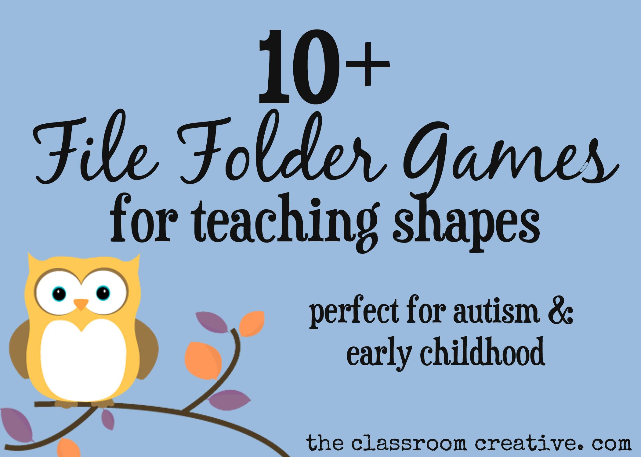 File Folder Games For Teaching Shapes - Free Printable Folder Games