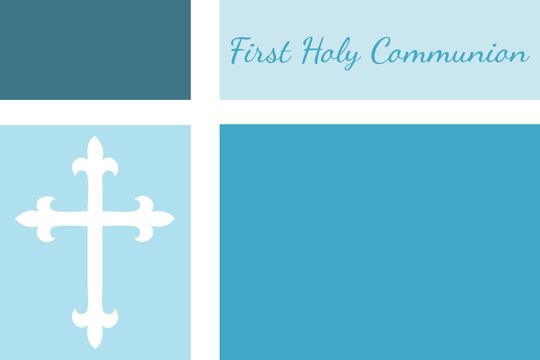 First Communion, Baptism, And Confirmation Invitations Or - Free Printable 1St Communion Invitations