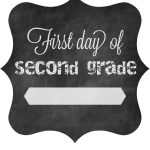 First Day Of School Free Printable Signs 2014 • The Pinning Mama – First Day Of Second Grade Free Printable Sign