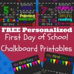 First Day Of School Printable Chalkboard Sign | School | Pinterest   My First Day Of Kindergarten Free Printable