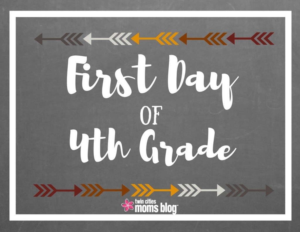 First Day Of School Signs: Free Printable - First Day Of Fourth Grade Free Printable