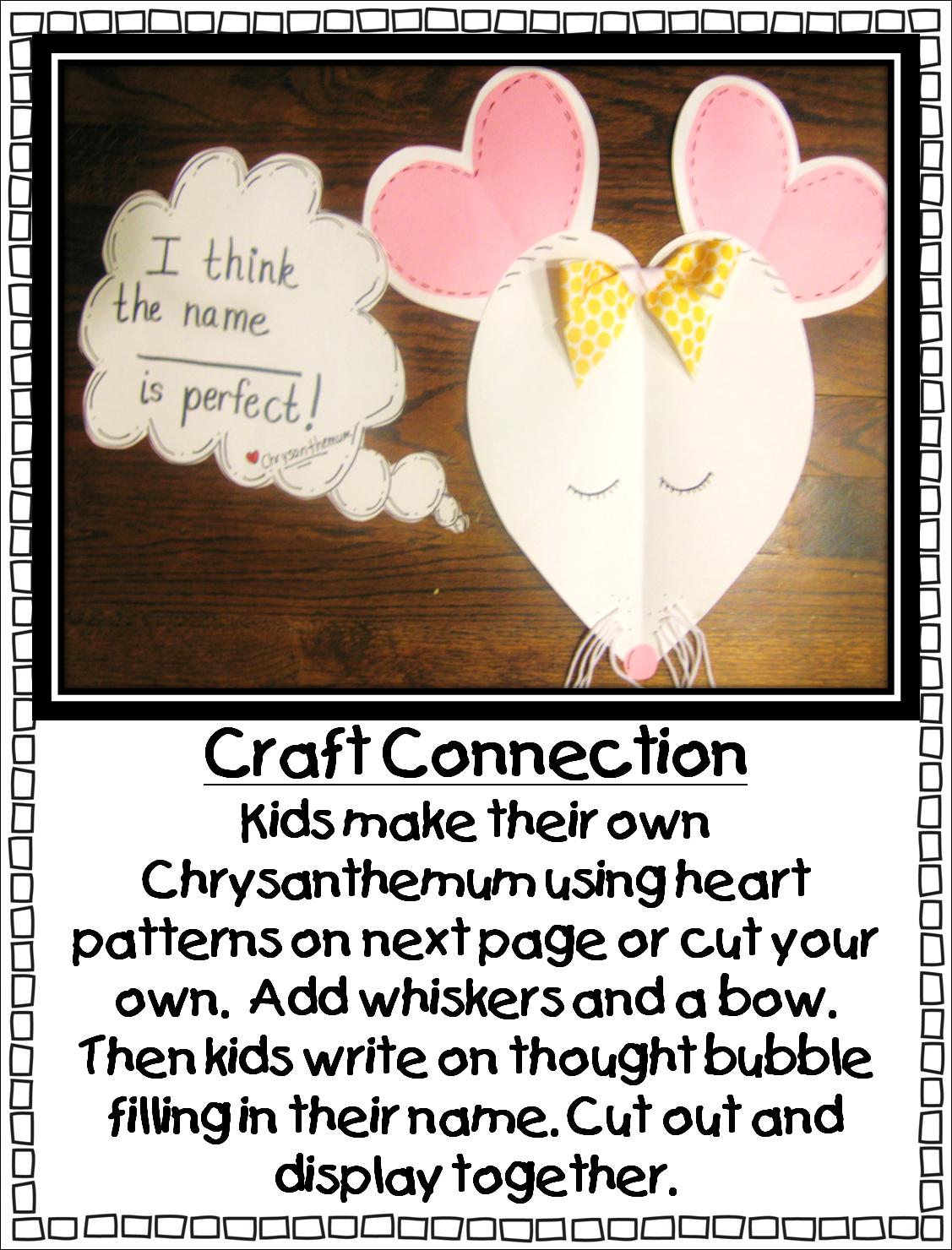 First Grade Wow: Chrysanthemumwhat A Perfect Name! - Chrysanthemum Free Printable Activities