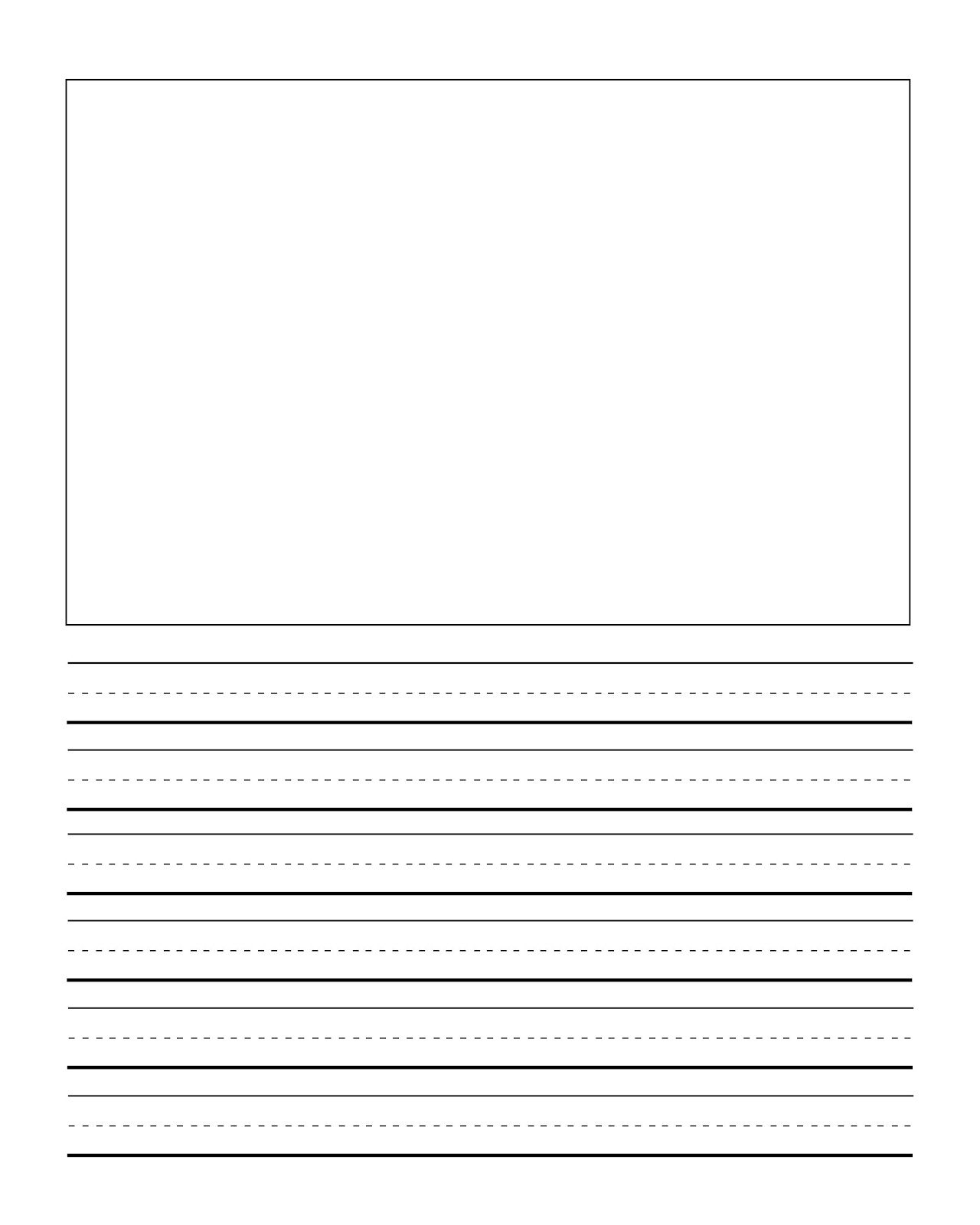 First Grade Writng Paper Template With Picture | Journal Writing - Free Printable Handwriting Paper For First Grade