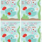 Fish School Printable Valentine Card   Mommy's Bundle   Free Printable School Valentines Cards