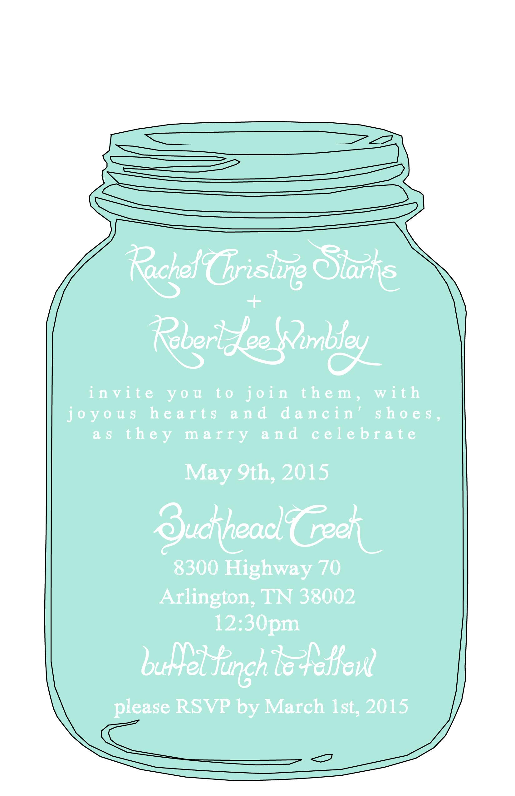 Floral Wreath Free Printable Bridal Shower Invitation Suite - Free Mason Jar Wedding Invitation Printable Templates