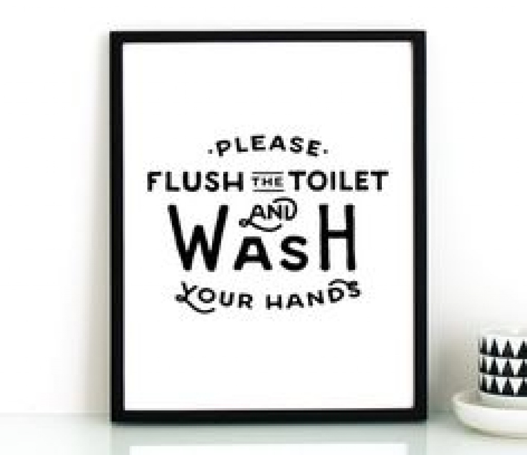 Flush The Toilet Quotes And Sayings Free Printable | Decor With Free - Free Printable Flush The Toilet Signs