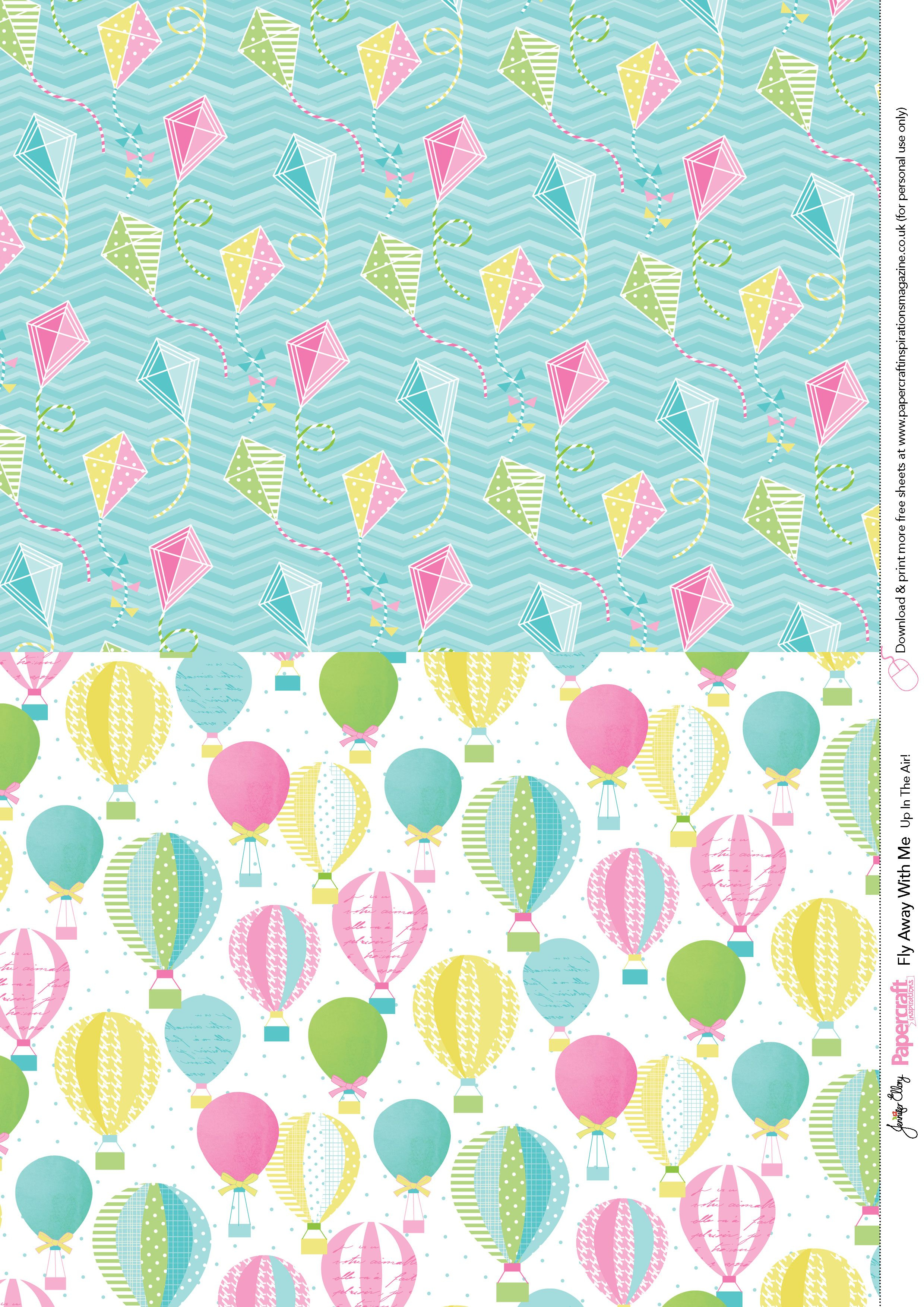 Fly Away With Me Free Printables From Papercraft Inspirations 138 - Free Printable Scrapbook Paper