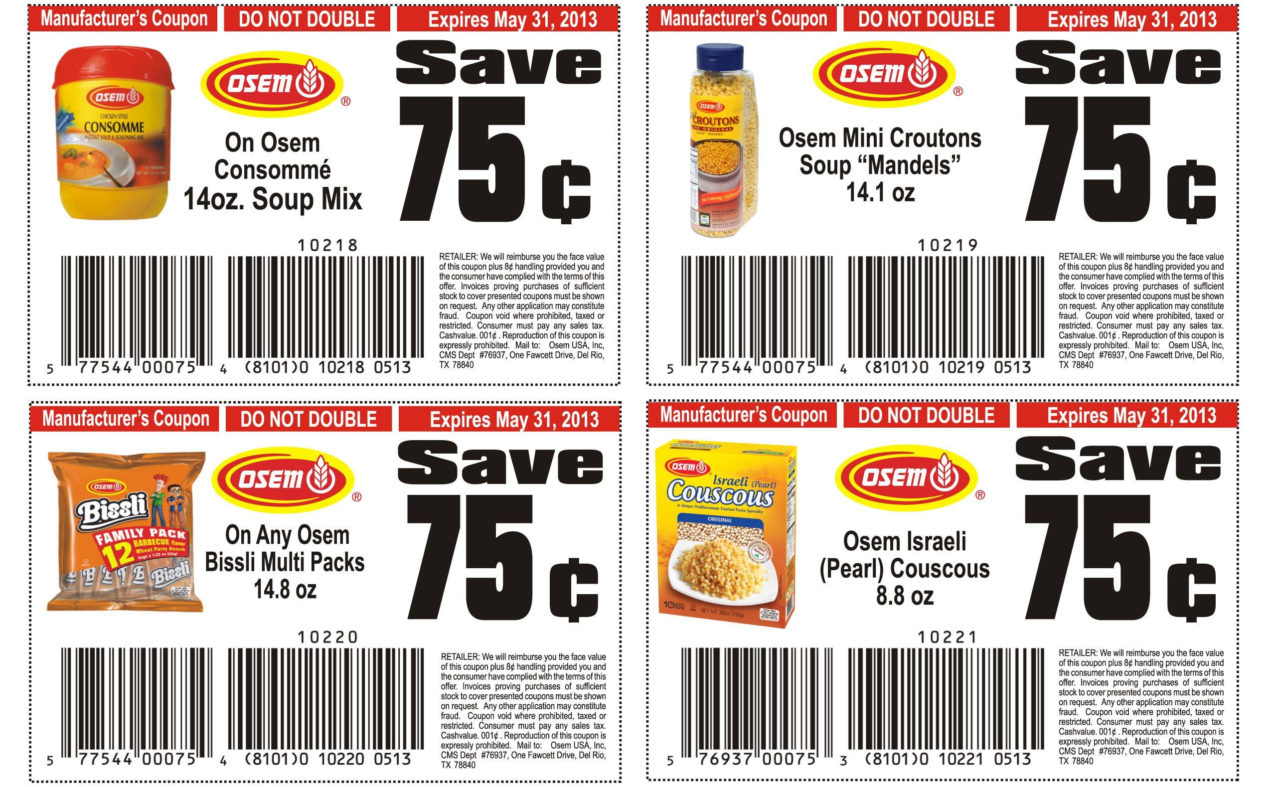 Food Coupons To Print | Osem List Of Healthy Food Printable Coupons - Free Printable Coupons For Food
