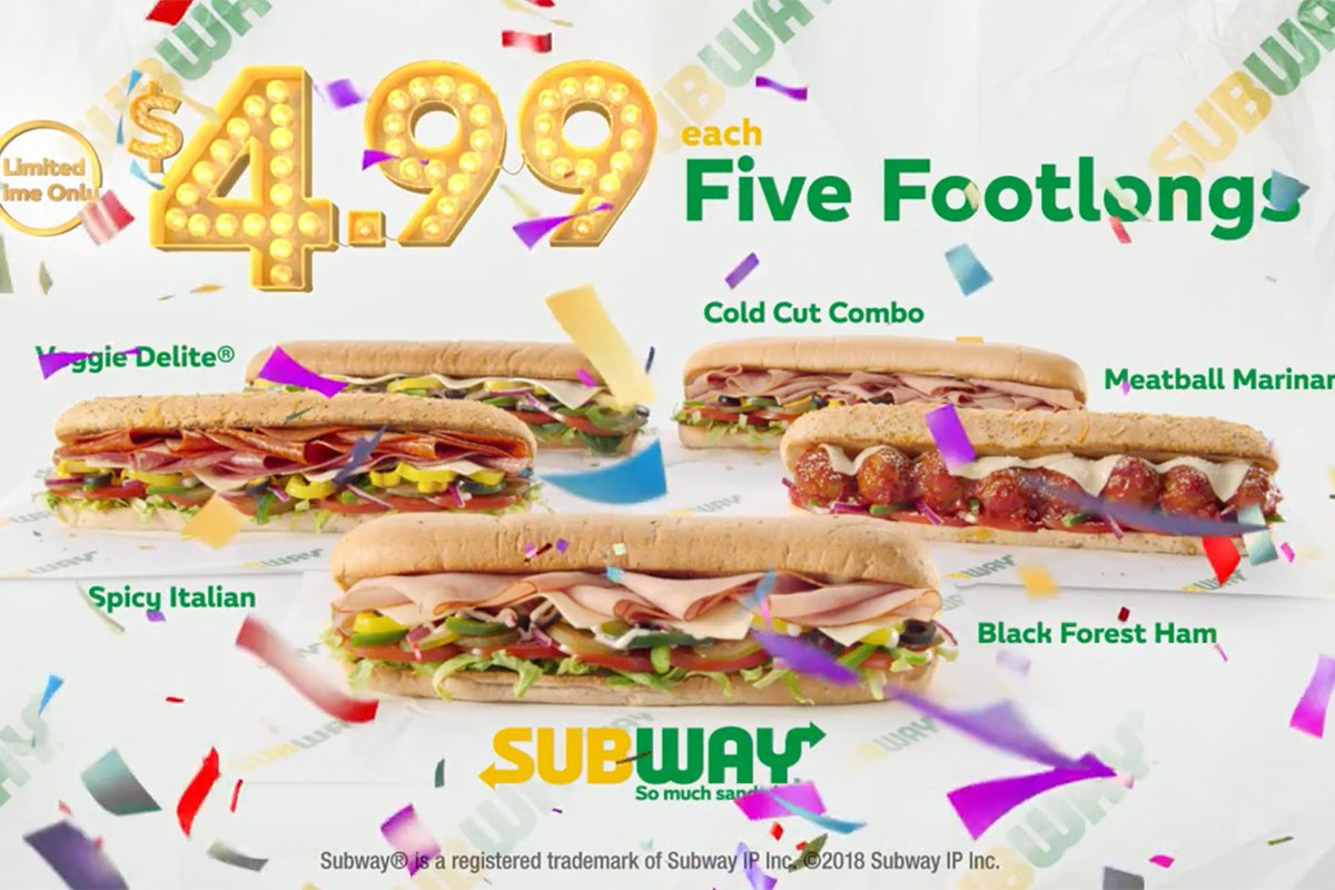 Forget Subway's $5 Footlong, It's $4.99 (For Now) | Cmo Strategy - Free Printable Subway Coupons 2017