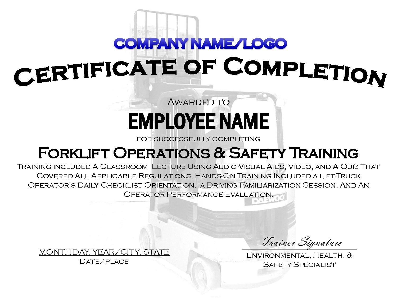 Forklift Certification Card Template Popular Free Forklift - Free Printable Forklift Certification Cards