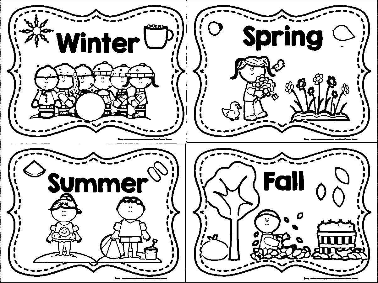 Four Seasons Kindergarten Worksheets For Download Free | Worksheet News - Free Printable Pictures Of The Four Seasons