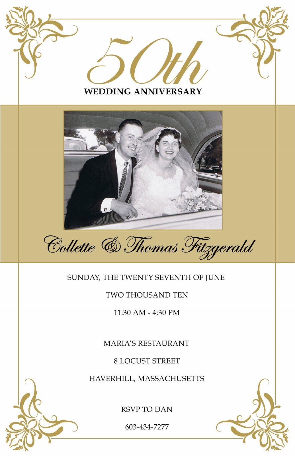 Free 50Th Wedding Anniversary Invitations Printable | 50Th - Free Printable 50Th Anniversary Cards