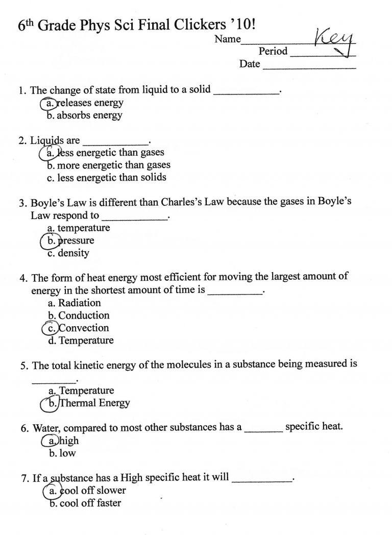 Free 6Th Grade Science Worksheets 6Th Grade Science Printable - Free Printable Science Worksheets For Grade 2