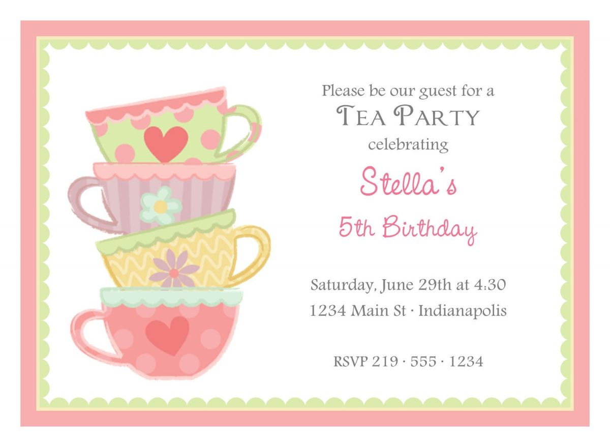 Free Afternoon Tea Party Invitation Template | Tea Party | Pinterest - Free Printable Kitchen Tea Invitation Templates