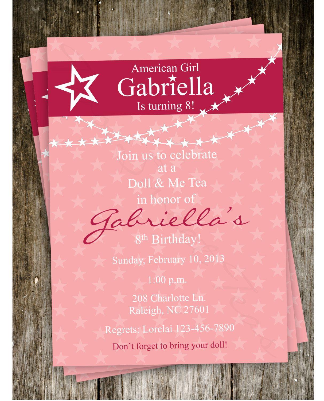 Free American Girl Party Invitations Printable – Invitetown- Can't - American Girl Party Invitations Free Printable