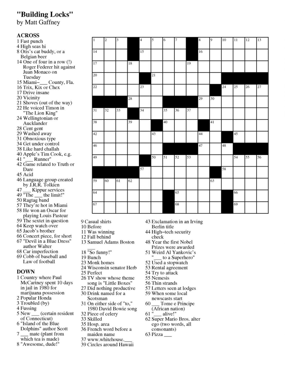 Free And Easy Crossword Puzzle Maker Crosswords Tools - Free Online Printable Easy Crossword Puzzles