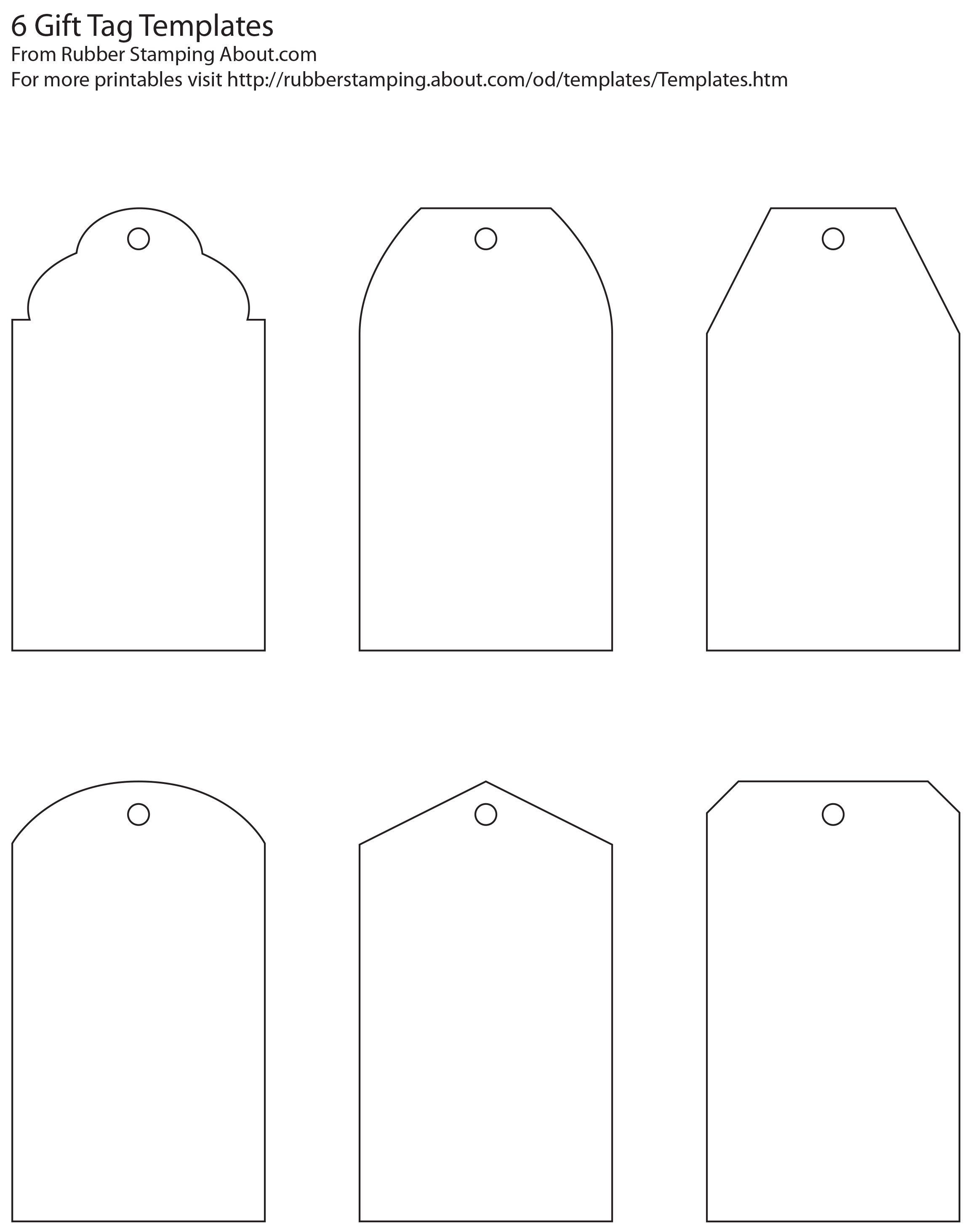 Free And Whimsical Printable Gift Tag Templates | Great Idea - Free Printable Gift Tags Templates