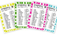 Candy Bar Baby Shower Game Free Printable
