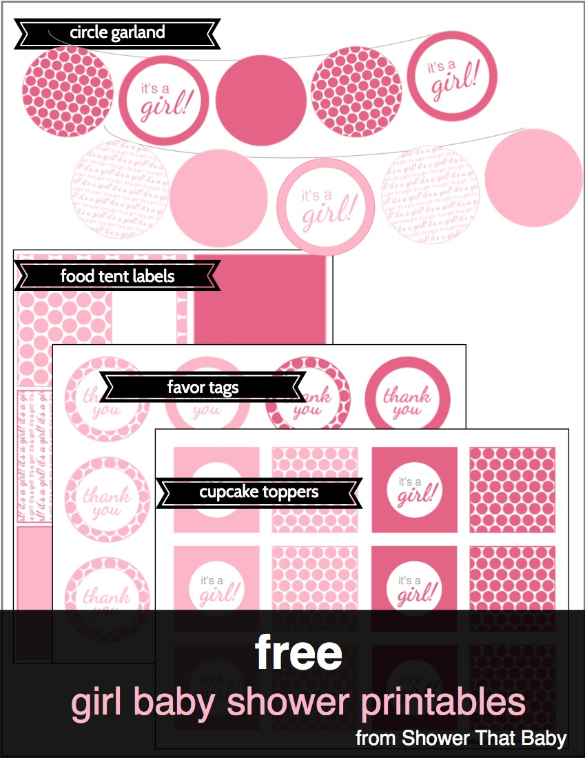 Free Baby Shower Printables   Shower That Baby - Baby Shower Bunting Free Printable