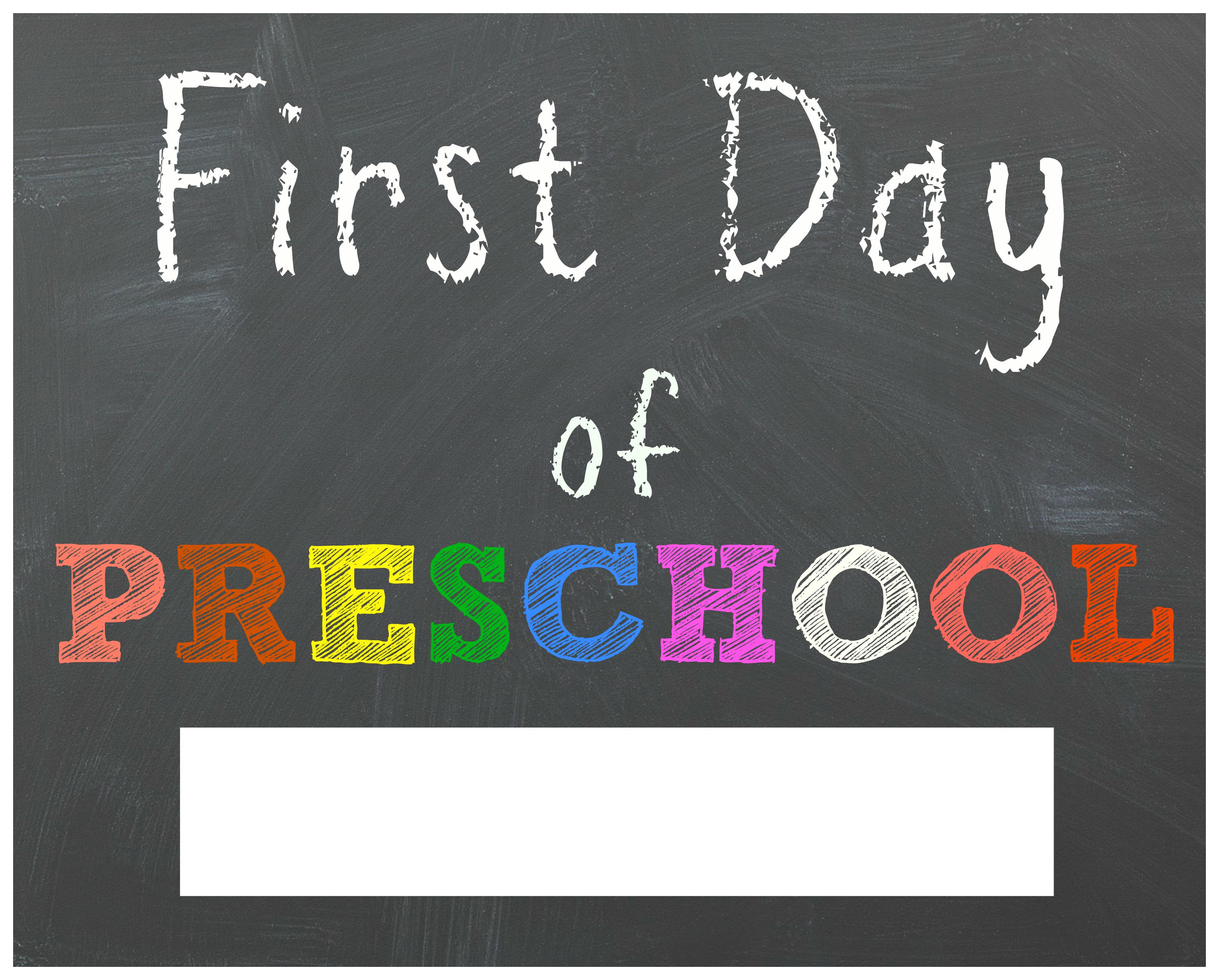 Free Back To School Printable Chalkboard Signs For First Day Of - First Day Of 3Rd Grade Free Printable