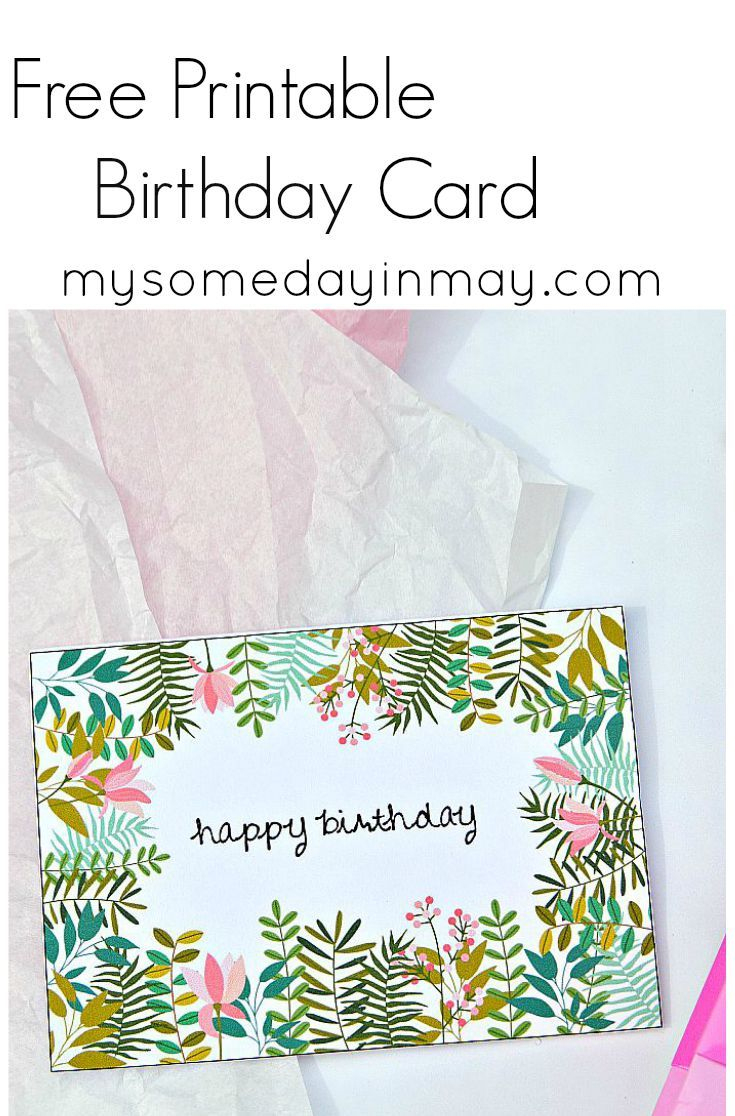 Free Birthday Card | Birthday Ideas | Free Printable Birthday Cards - Free Printable Birthday Cards For Her